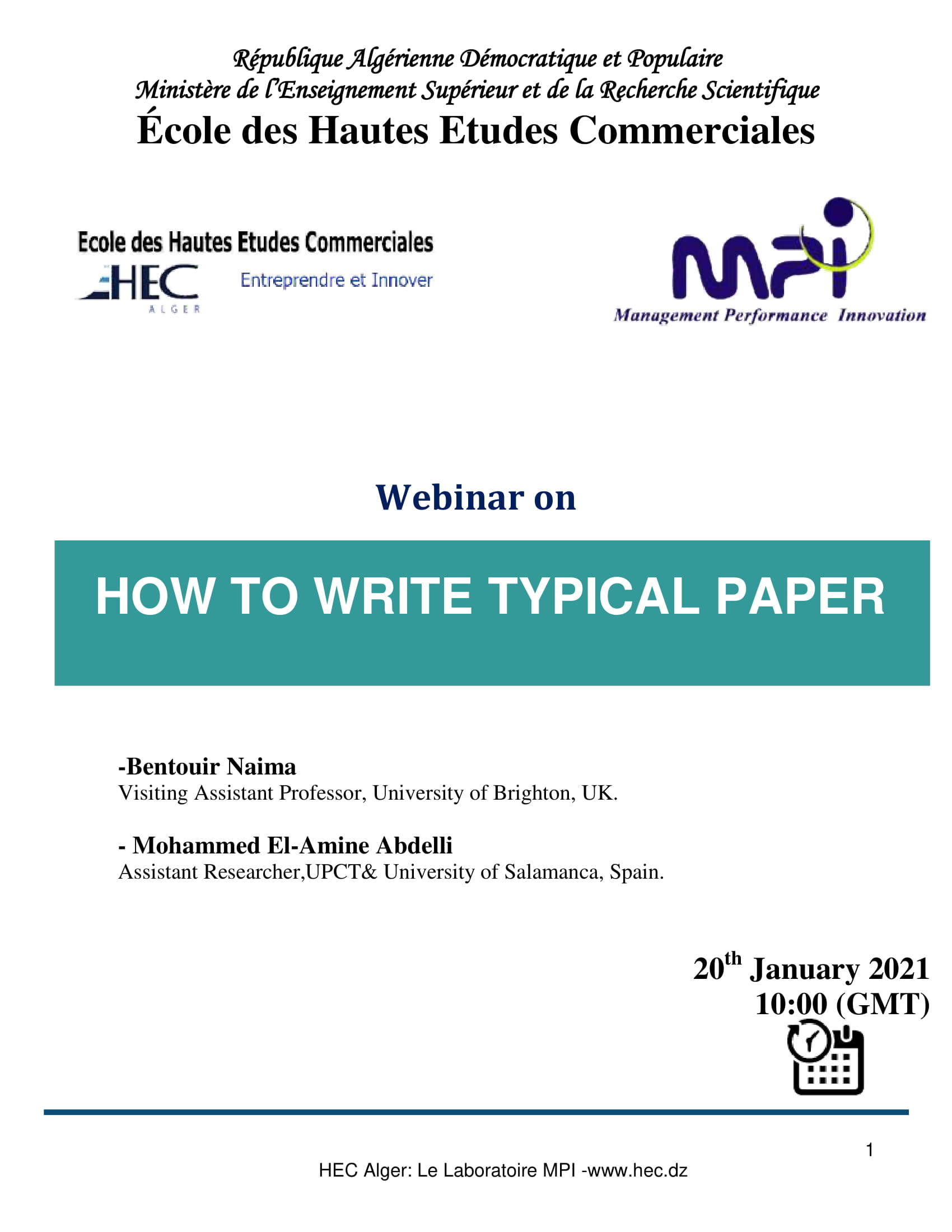 WEBINAR ON HOW WRITE TYPICAL PAPER